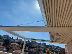 Aluminum pergola in Shefar'am